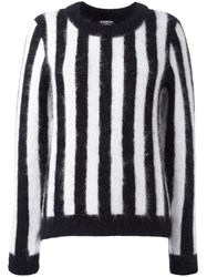 Balmain Striped Jumper Black