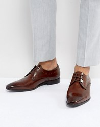 Zign Leather Brogue Shoes In Brown