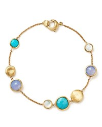 Marco Bicego 18K Yellow Gold Jaipur Bracelet With Turquoise Mother Of Pearl And Chalcedony 100 Bloomingdale's Exclusive Multi Gold