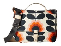 Orla Kiely Summer Flower Stem Satchel Sunset Satchel Handbags Multi