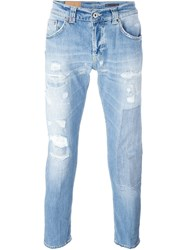 Dondup Distressed Tapered Jeans Blue