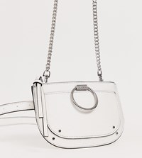 Aldo Elroka White Belt Fanny Pack With Silver Hardware White