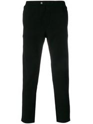 Jo No Fui Logo Patch Trousers Cotton Polyester Lyocell Virgin Wool M Black