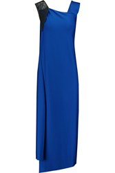 Vionnet Satin Jersey Dress Blue
