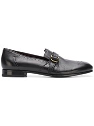 Lidfort Perforated Loafers Black