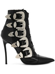 Dsquared2 Buckled Heeled Boots Black