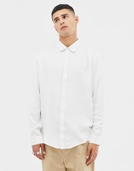 Another Influence Oversized Silky Shirt White