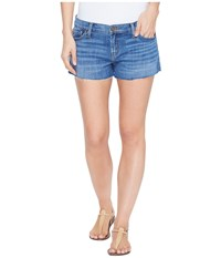 Hudson Kenzie Cut Off Five Pocket Shorts In Undefeated Undefeated Women's Shorts Blue