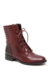 French Blu Obsession Lace Up Boot Red