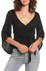 Sun And Shadow Women's Bell Sleeve Wrap Top