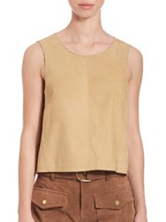 Frame Wrapped Silhouetted Tank Top Beige