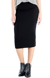 Women's Michael Stars Convertible Jersey Pencil Skirt Black
