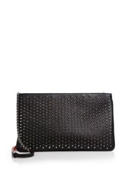 Christian Louboutin Posh Studded Leather Crossbody Bag Black Nude