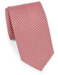 Brooks Brothers Classic Houndstooth Tie Red