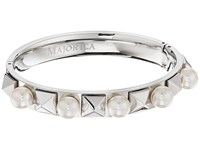 Majorica Why Not Silver Pyramid Bangle White Bracelet