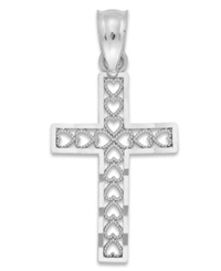 Macy's Cross Charm In 14K White Gold