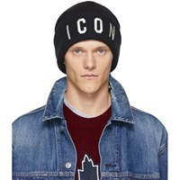 Dsquared2 Black And White Icon Beanie