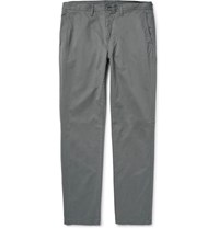 Michael Kors Slim Fit Garment Dyed Stretch Cotton Twill Chinos Gray