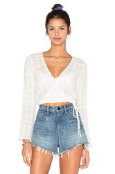 Capulet Cross Front Top White