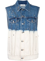 Faith Connexion Dip Dyed Denim Vest White