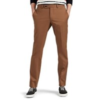 Barneys New York Cotton Slim Trousers Med. Brown Med.Brown