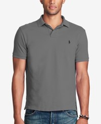 Polo Ralph Lauren Men's Classic Fit Weathered Mesh Dark Gray