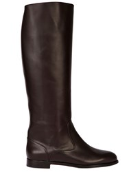 Manolo Blahnik 20Mm Luchino Brushed Calf Riding Boots