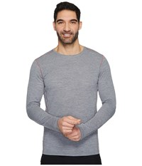 Brooks Ghost Long Sleeve Heather Asphalt Workout Gray