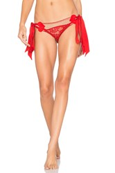 For Love And Lemons Primrose Heart Panty Red