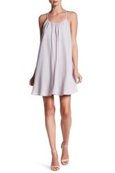 Love Zoe Halter Dress With Embroidered Back Gray