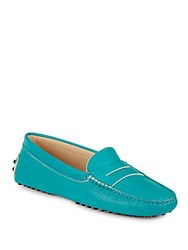Tod's Gommini Leather Moccasins Blue