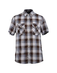 Woolrich Shirts Short Sleeve Shirts Men Brown