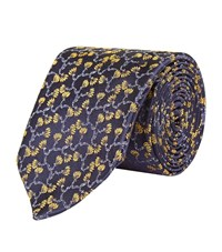 Harrods Of London Branch Limited Edition Tie Unisex Navy