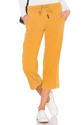 Stateside French Terry Wide Leg Pant Mustard