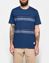 Norse Projects James Contrast Stripe Ss Dark Indigo