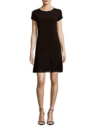 Calvin Klein Solid Pleated Dress Black