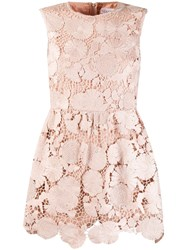 Red Valentino Lace Playsuit Neutrals