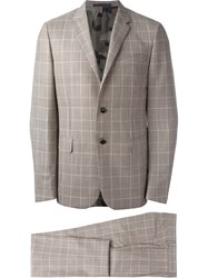 Valentino Checked Two Piece Suit Nude And Neutrals
