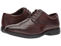 Nunn Bush Decker Wingtip Oxford With Kore Walking Comfort Technology Brown Lace Up Casual Shoes