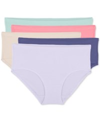 Fruit Of The Loom Premium 5 Pk. Low Rise Breathable Mesh Brief 5Dpblb1 Mint Cream Pop Pink Cashmere Dusted Purple Wis