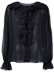 Dolce And Gabbana Polka Dot Blouse Black