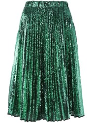 N 21 No21 Sequined Pleated Skirt Green