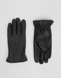Selected Homme Gloves Leather Black