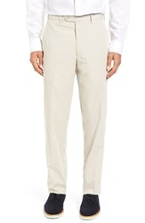 Jb Britches Men's J.B. Flat Front Corduroy Cotton Trousers Taupe
