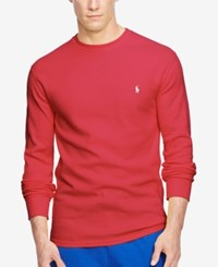 Polo Ralph Lauren Men's Big And Tall Thermal Crew Neck Shirt Rl2000 Red