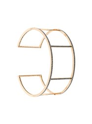 Ileana Makri Cuff Wire Bracelet Gold Diamond Metallic