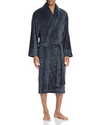 Daniel Buchler Heathered Terry Robe Charcoal