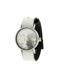 South Lane Avant Invert Watch Calf Leather Stainless Steel White