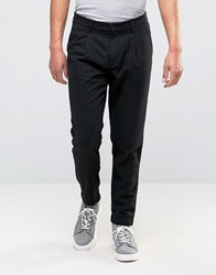 Selected Homme Wool Trouser In Tapered Fit Black