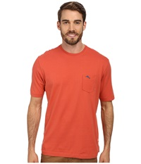 Tommy Bahama New Bali Sky Tee Coral Reef Men's Short Sleeve Pullover Red
